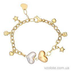 Золотой браслет с подвесками (арт. 4203280132)