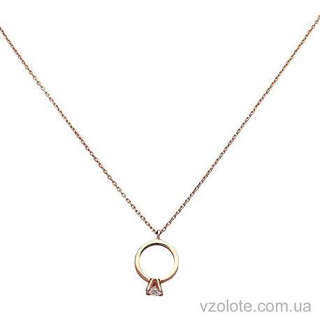 Золотое колье Кольцо с фианитом (арт. 7101978101)