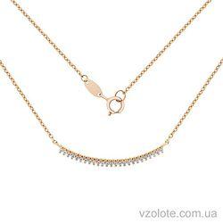 Золотое колье с фианитами (арт. 7102549101)