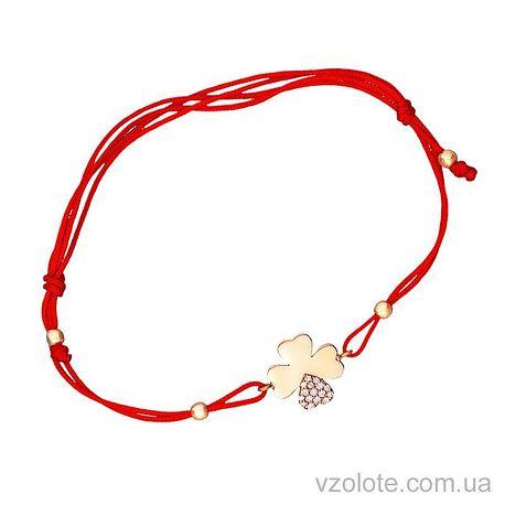 Золотой браслет синтетический с фианитами (арт. 4213041101к)