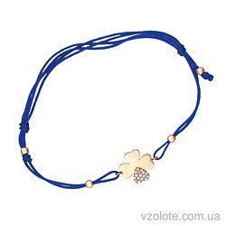 Золотой браслет синтетический с фианитами (арт. 4213041101с)