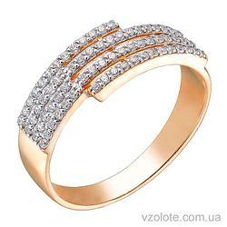 Золотое кольцо с фианитами (арт. 1191012101)