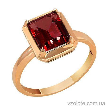 Золотое кольцо с гранатом (арт. 1190729101г)