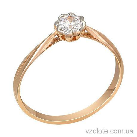 Золотое кольцо с бриллиантом (арт. 1101002201)