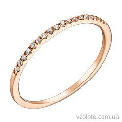 Золотое кольцо с бриллиантами (арт. 1102038201)