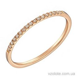 Золотое кольцо с бриллиантами (арт. 1102039201)