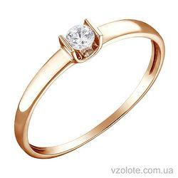Золотое кольцо с бриллиантом (арт. 1103293201)