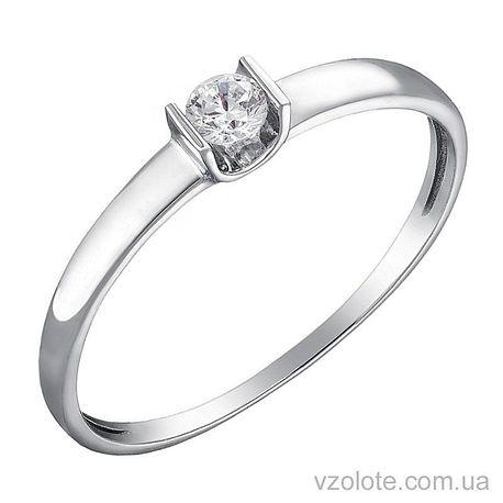 Кольцо из белого золота с бриллиантом (арт. 1103293202)