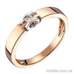 Золотое кольцо с бриллиантом (арт. 1103525212)