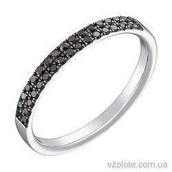 Кольцо из белого золота с черными бриллиантами (арт. 1103526202)