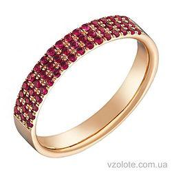 Золотое кольцо с рубинами (арт. 1103527201)