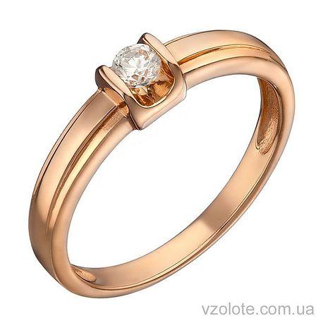 Золотое кольцо с бриллиантом (арт. 1104089201)