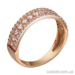 Золотое кольцо с бриллиантами (арт. 1190634201)