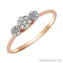 Золотое кольцо с бриллиантами (арт. 1190795201)