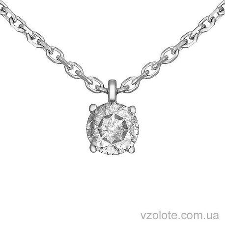 Колье из белого золота с бриллиантом (арт. 7103633202)