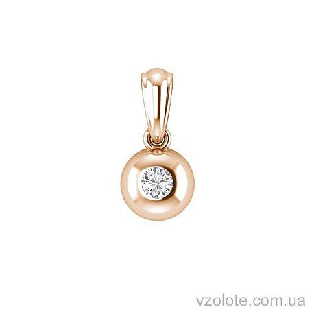 Золотой кулон с бриллиантом (арт. 3102565201)