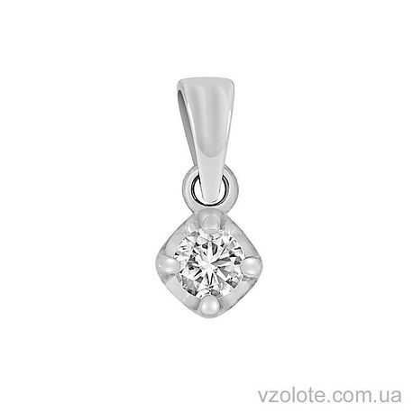Кулон из белого золота с бриллиантом (арт. 3102567202)