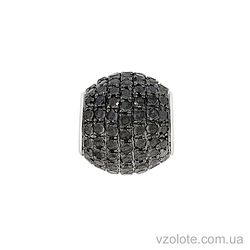 Подвеска из белого золота с черными бриллиантами (арт. 3102843202)