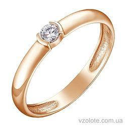 Золотое кольцо с бриллиантом (арт. 1103292201)