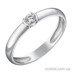 Кольцо из белого золота с бриллиантом (арт. 1103292202)