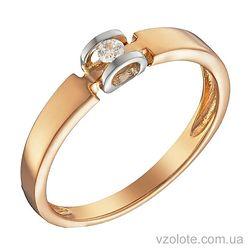 Золотое кольцо с бриллиантом (арт. 1104079212)