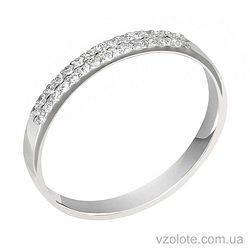 Кольцо из белого золота с бриллиантами (арт. 1190519202)