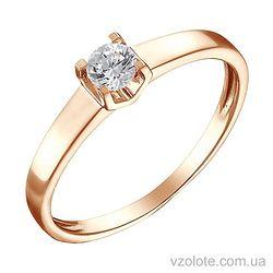 Золотое кольцо с бриллиантом (арт. 1191243201)