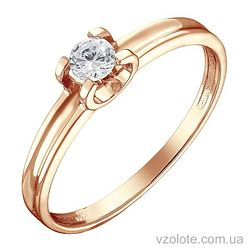 Золотое кольцо с бриллиантом (арт. 1191248201)