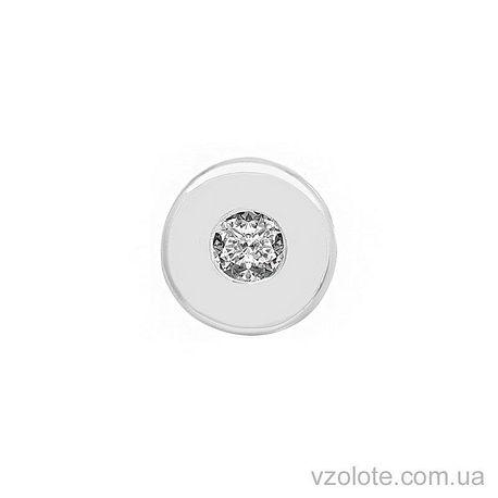 Кулон из белого золота с бриллиантом (арт. 3103543202)