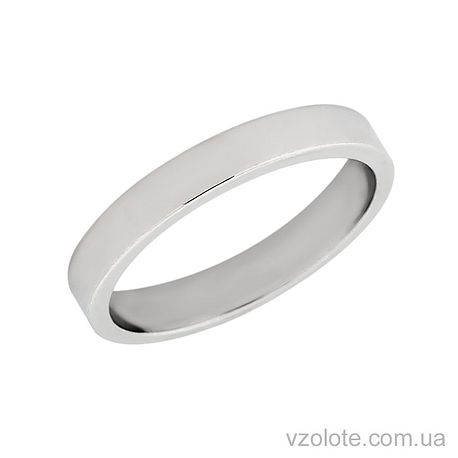 Обручальное кольцо классическое из белого золота (арт. 10103-1б)
