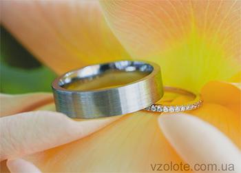 Непарные обручальные кольца из белого золота